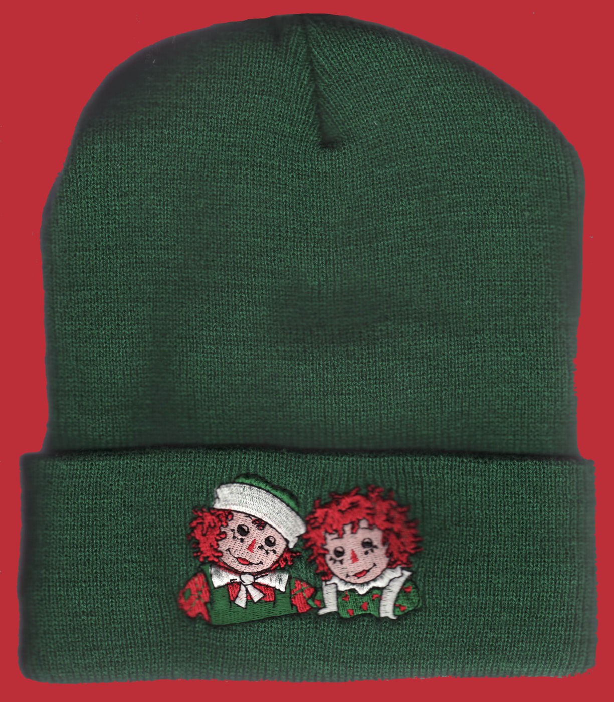 8bca8c091 Raggedy Ann & Andy Knit Cap from Target - Green