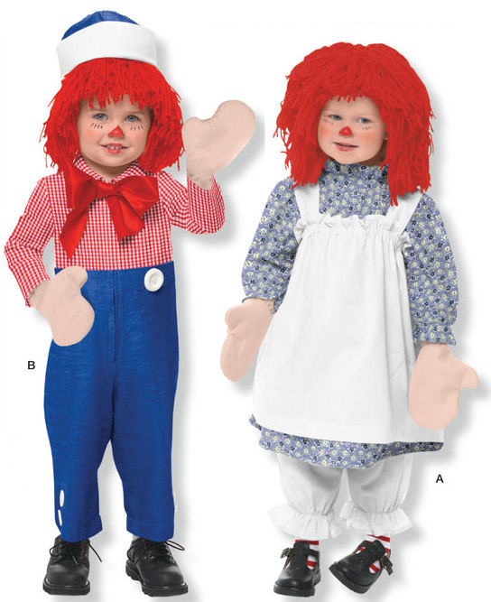 Toddler Raggedy Ann & Andy Costume Pattern - Simplicity 9375 AA ...