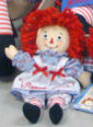 "Raggedy Ann 8"" Doll by Aurora - Embroidered Eyes"