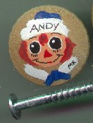 Raggedy Andy Drawer Pull Small