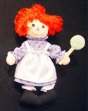 Raggedy Ann Fabric Lollipop Plush Mini Doll Ornament