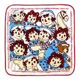 Raggedy Ann & Andy Dish Cloth from Japan - Faces