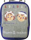 Raggedy Ann & Andy Blue & Grey Pouch/Camera Case w/strap from Japan