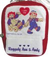 Raggedy Ann & Andy Red & White Pouch Case Mini Purse w/strap from Japan