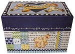 Raggedy Ann & Andy Recipe Box from Japan - Blue   **See below for ONE sale-priced recipe box**