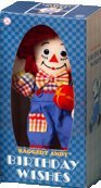 Raggedy Andy Musical Birthday Wishes Doll by Applause  **NO MUSIC--see below**