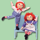 Poseable Raggedy Ann & Andy Dolls by Applause