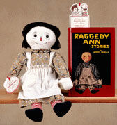 Reproduction Volland Raggedy Ann Doll & Book with Bookmark Boxed Gift Set by Applause