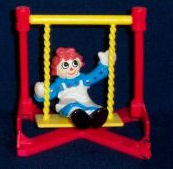 Raggedy Ann & Andy McDonald's Happy Meal Toy - Raggedy Ann on Swing