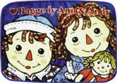 Raggedy Ann & Andy with Doll Small Fleece Blanket from Japan