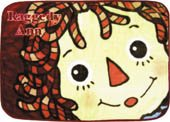 Raggedy Ann Face Small Fleece Blanket from Japan