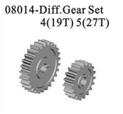 Diffirential gear wheel 4(19T)5(27T)