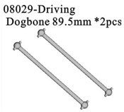 Front/rear dogbone 89.5mm 2P