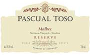 Pascal Toso Malbec Reserve 2014