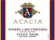 Acacia Pinot Noir Winery Lake 2008