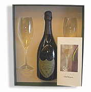Dom Perignon Champagne Gift Set with Glasses