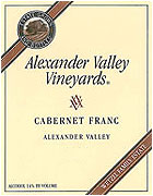 Alexander Valley Vineyards Cabernet Franc