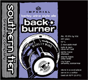 Southern Tier Brewery Back Burner 22oz.