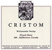 Cristom Vineyards Pinot Noir Mt Jefferson 2010
