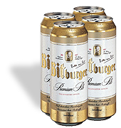 Bitburger Pils 4-pack 500ml. Cans