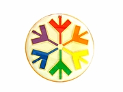 Lapel Pin Rainbow Snowflake
