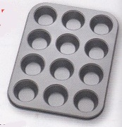 Mini Muffin Pan 12 Cup Non-Stick Carbon Steel