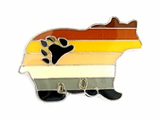 Lapel Pin Bear Shape Bear Pride Flag