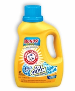ARM & HAMMER® Plus the Power of OxiClean® Liquid Laundry Detergent 62.5oz Bottle