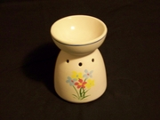 Oil Warmer Painted Flower Bowl