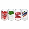 Luminarc Coca-Cola   Assorted Retro Can Glasses 16oz  4/set