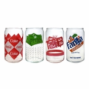 Luminarc Coca-Cola ®  Assorted Retro Can Glasses 16oz  4/set