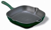 Chasseur Cast Iron Square Grill with Color Handle