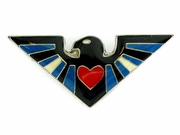 Lapel Pin Leather Pride Flag Eagle