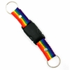 Keychain Double Ring Nylon Rainbow Snap-Apart