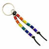 Keychain    Anodized Aluminum Rainbow Tubes on Cord