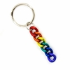 Keychain  Anodized Aluminum Rainbow Chain Links