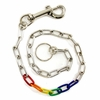 "Keychain 24"" Anodized Aluminum Rainbow Links"