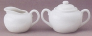 Sugar and Creamer Set  6oz Creamer, Double Handle Sugar Bowl
