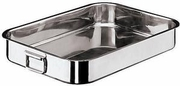 Roasting Pan Professional Grade with  Folding Handles Stainless Steel