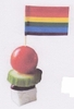 Rainbow Gay Pride Flag Toothpicks  100/bx