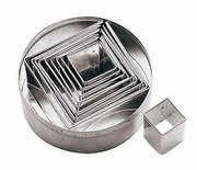 Square Plain Cookie Cutter Set  6pc