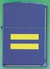 Yellow Equality on Blue Matte Zippo Lighter