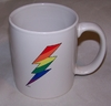 Rainbow Lightning Bolt Mug