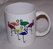 Rainbow Flamingos Mug