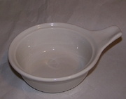 "Mini Casserole with Handle Porcelain  5-1/2"" dia."