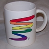 Rainbow Squiggle Design Ceramic Mug