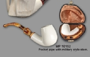 Servi Meerschaum  Pocket Tobacco  Pipe Military Stem  Smooth
