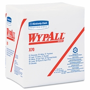 WypAll® X70 Wipers, 1/4-Fold, 12 1/2 x 12, White, 76/Pack, 12 Packs/Carton