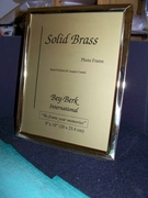 Brass Picture Frame 8 x 10