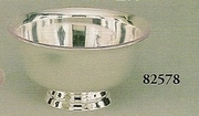 """Silverplated Paul Revere Bowl with Liner 8"""""""